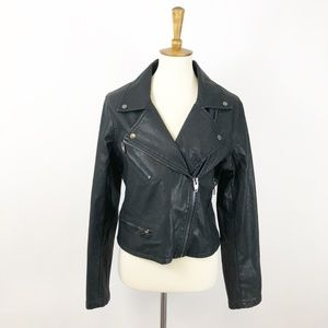 BLANK NYC Faux Leather Motorcycle Jacket, L